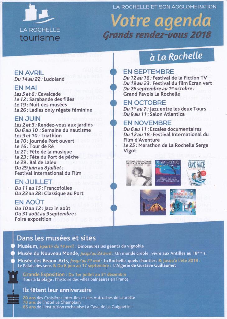 Grands rendez-vous 2018 à La Rochelle