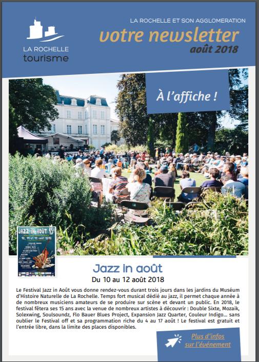 Newsletter août 2018