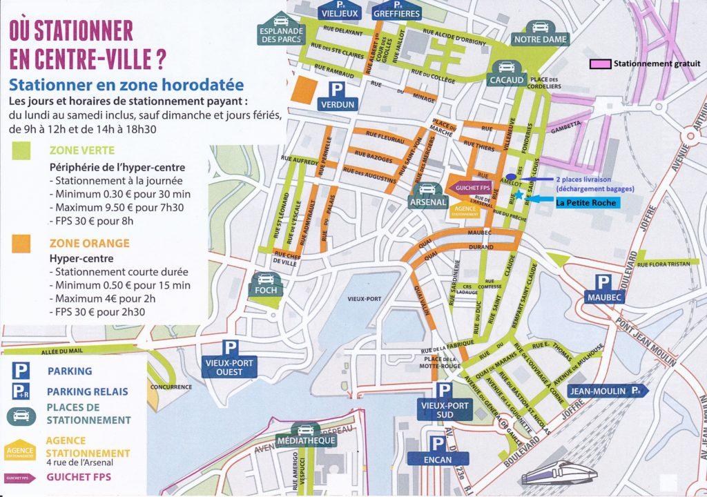 Plan de stationnement autour de La Petite Roche