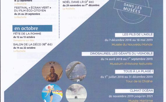 les grands rendez-vous de La Rochelle en 2019